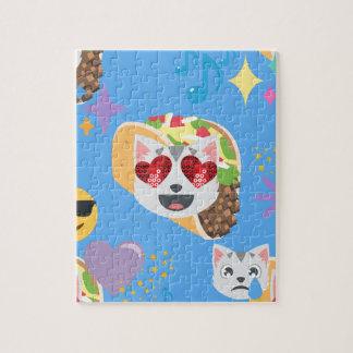 taco cat emoji jigsaw puzzle
