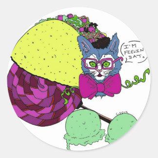 Taco Cat Feelin' Dat Classic Round Sticker