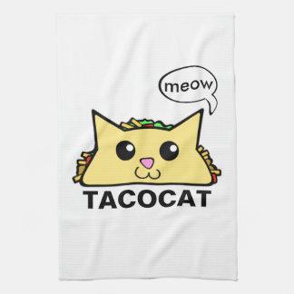Taco Cat Hand Towel