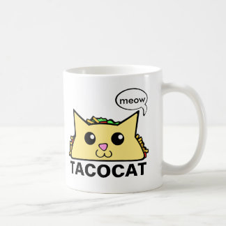 Taco Cat Classic White Coffee Mug