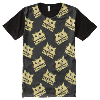 Taco Cat Pattern All-Over Print T-shirt