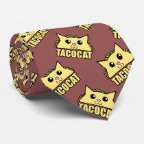 Taco Cat Pattern Tie