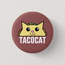 Taco Cat Pinback Button