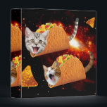 "Taco Cats Space 3 Ring Binder<br><div class=""desc"">pussy , cat , cats , galaxy , cool , funny , space , taco , tacos , cosmos , pet , kitten , kittens , cute , burrito , &quot;bengal cats&quot; , universe , &quot;funny cat&quot; , meow , &quot;cat meme&quot; , adorable , feline , lolcats , &quot;space cat...</div>"