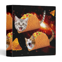 Taco Cats Space 3 Ring Binder