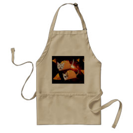 Taco Cats Space Adult Apron