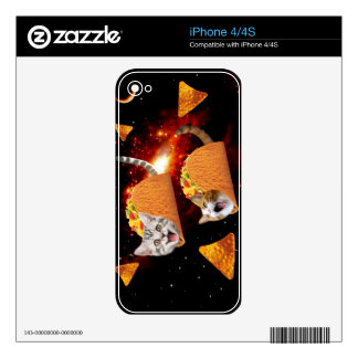 Taco Cats Space Decals For The iPhone 4S