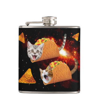 Taco Cats Space Flask