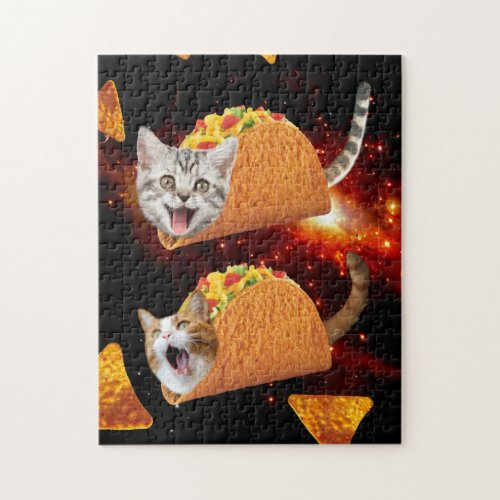 Taco Cats Space Jigsaw Puzzle