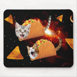 Taco Cats Space Mouse Pad