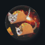 "Taco Cats Space Paper Plate<br><div class=""desc"">pussy , cat , cats , galaxy , cool , funny , space , taco , tacos , cosmos , pet , kitten , kittens , cute , burrito , &quot;bengal cats&quot; , universe , &quot;funny cat&quot; , meow , &quot;cat meme&quot; , adorable , feline , lolcats , &quot;space cat...</div>"