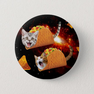 Taco Cats Space Pinback Button