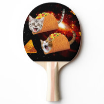 Taco Cats Space Ping Pong Paddle