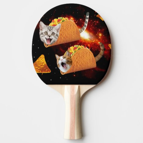 Taco Cats Space Ping-Pong Paddle