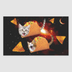 Taco Cats Space Rectangular Sticker