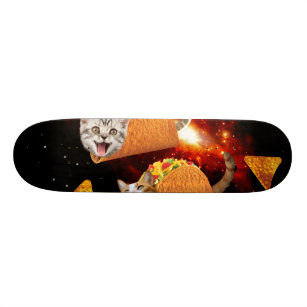 Taco Cats Space Skateboard Deck