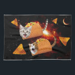"Taco Cats Space Towel<br><div class=""desc"">space cat, taco cat, mexican tacos , funny cats , cute cats , cat memes , galaxy cool humor , adorable meow universe cute , kittens pet cosmos tacos ,  burrito funny lolcats , </div>"