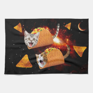 Taco Cats Space Towel at Zazzle