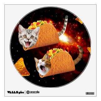 Taco Cats Space Wall Sticker