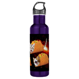 Taco Cats Space Water Bottle