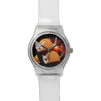 Taco Cats Space Wrist Watch