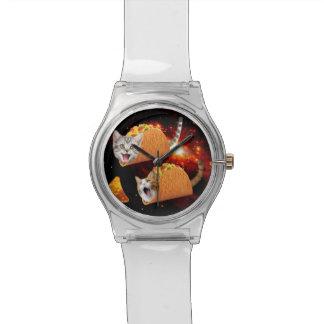Taco Cats Space Wrist Watch
