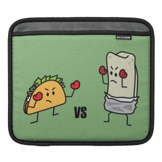 Taco contra el Burrito Mangas De iPad