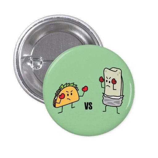 Taco contra el Burrito Pins
