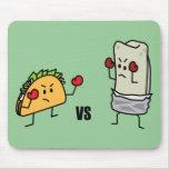 Taco contra el Burrito Tapete De Ratones