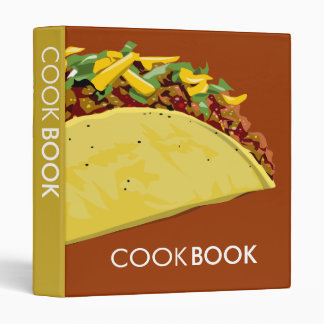 Taco cook book binder