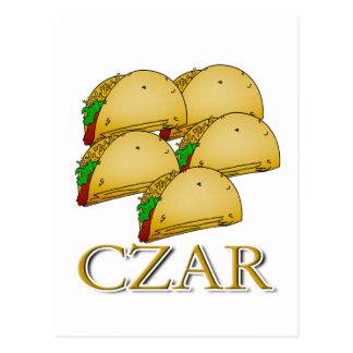 Taco Czar Postcard