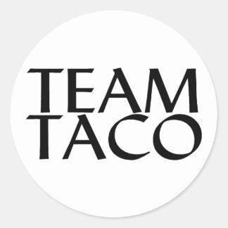 Taco del equipo etiquetas redondas