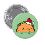 Taco del navidad con el gorra de Santa Pins