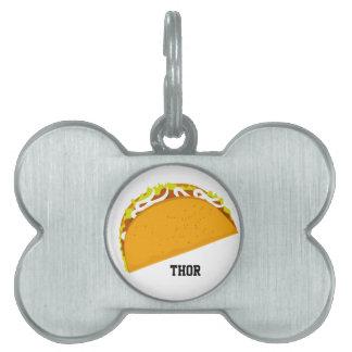 Taco delicioso placa de mascota