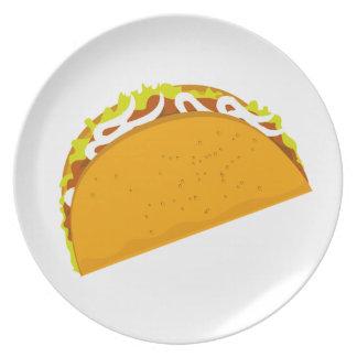 Taco delicioso platos
