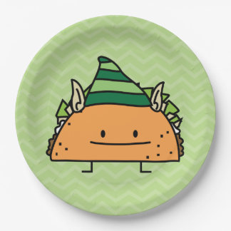 Taco Elf Paper Plate