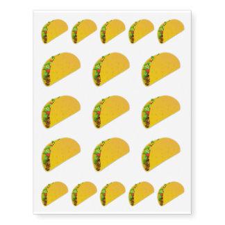 Taco Emoji Cute Novelty Foodie Temporary Tattoos