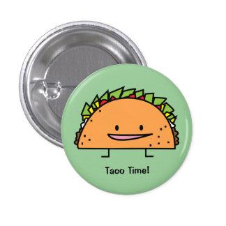 Taco feliz pin redondo de 1 pulgada
