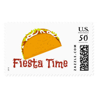 Taco Fiesta Postage Stamp