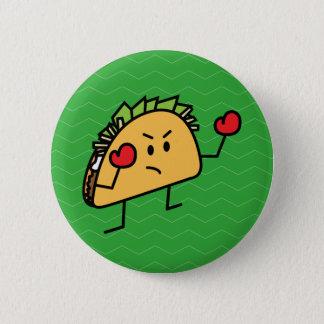 Taco Fighter Boxer tortilla shell gloves Pinback Button