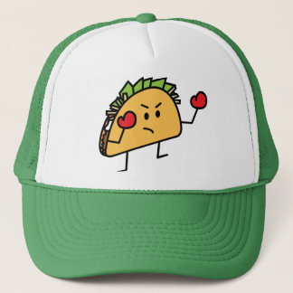 Taco Fighter Boxer tortilla shell gloves Trucker Hat