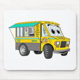 Taco Food Truck Cartoon Mousepads