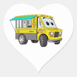Taco Food Truck Cartoon Heart Sticker
