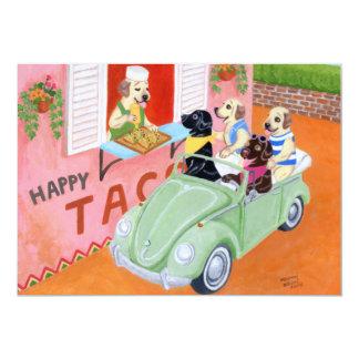 Taco Fun Labradors Card