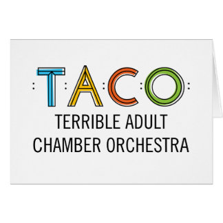 TACO Greeting Card Standard white envelopes incl
