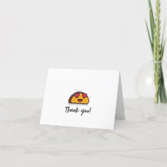 Taco Hearts Thank You Card
