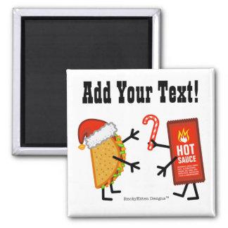 Taco & Hot Sauce - Christmas (Customizable) Magnet