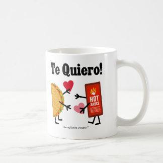 Taco & Hot Sauce - Te Quiero! (I Love You!) Classic White Coffee Mug