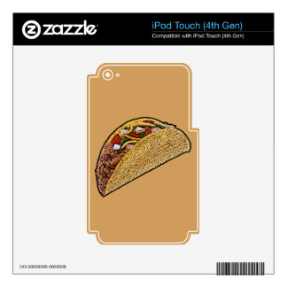 Taco iPod Touch 4G Decals