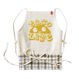"""Taco Life"" Zazzle HEART Apron"